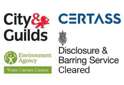City & Guilds, Certass, Environmental Agenmcy Waste Carriers Licence, Disclosure & Barring Service Cleared, certified locks fitters